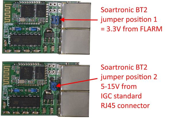 Soartronic BT2, selecting supply voltage and source